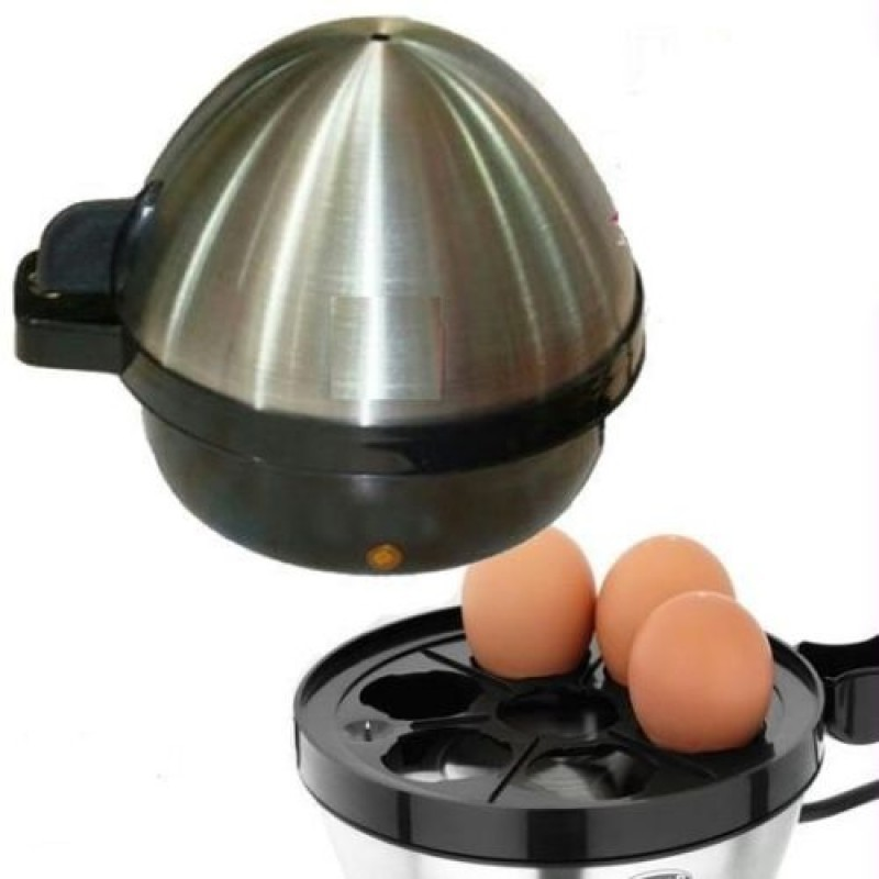 Luxe Mart 7 Egg Boiler(0.75 L, Silver, Black)