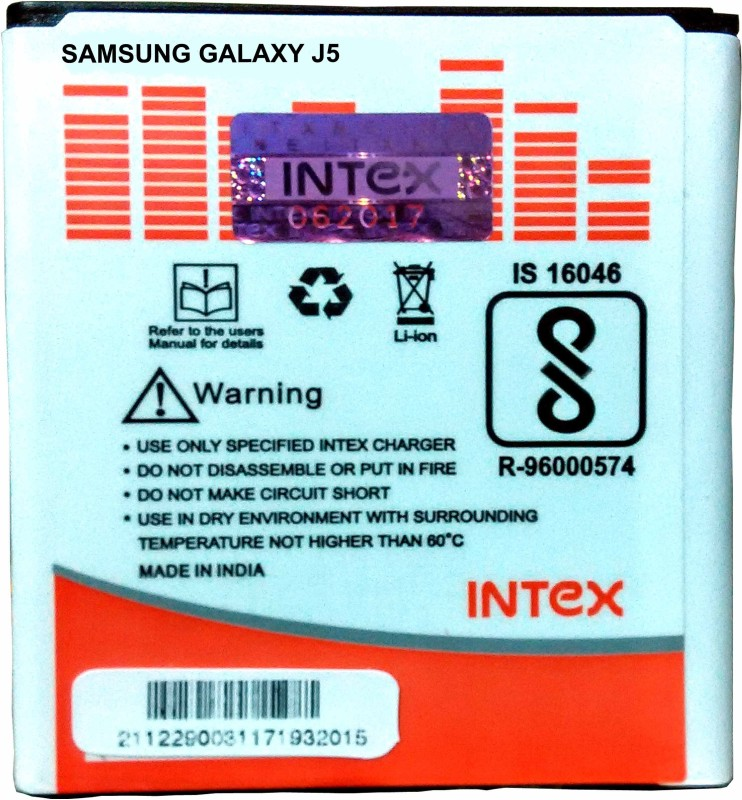 Intex Mobile Battery For Galaxy J5