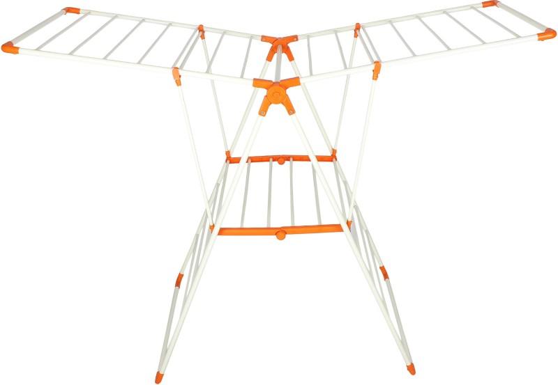 Magna Robusto Carbon Steel Floor Cloth Dryer Stand(Orange)