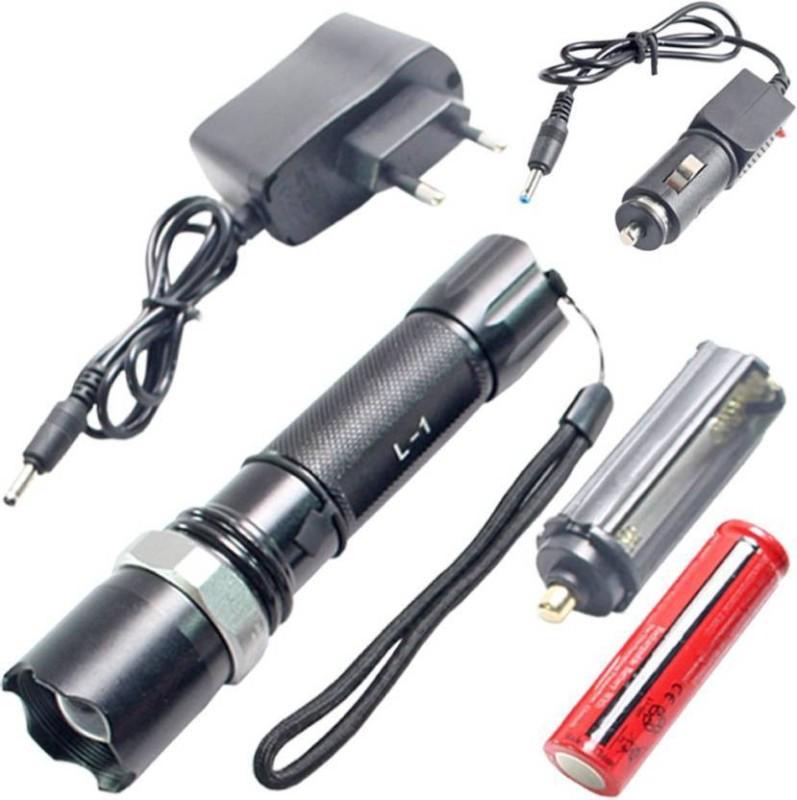 Jeeya Multifunction Flashlight Torches Emergency Lights(Black)