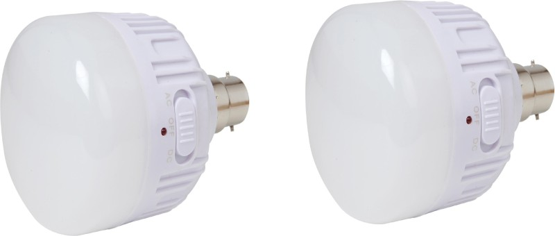 CSM CSM Set of two 20 WATTS Rechargeable Emergency LED Bulb Wall-mounted(White)