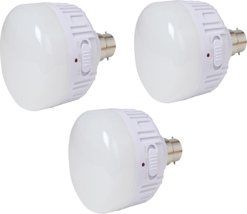 CSM CSM Set of three 20 WATTS Rechargeable Emergency LED Bulb Wall-mounted(White)