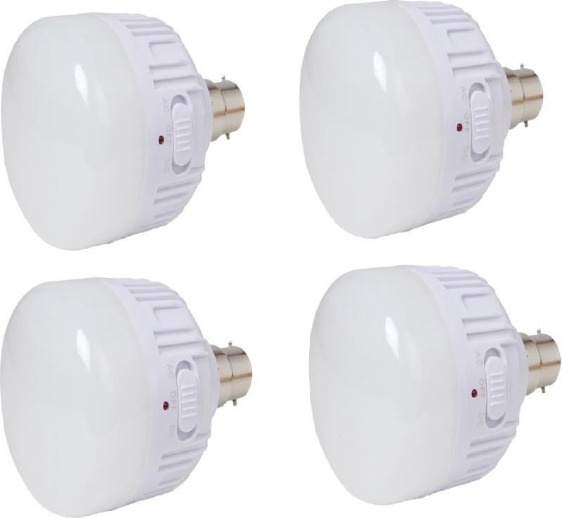 CSM CSM Set of four 20 WATTS Rechargeable Emergency LED Bulb Wall-mounted(White)