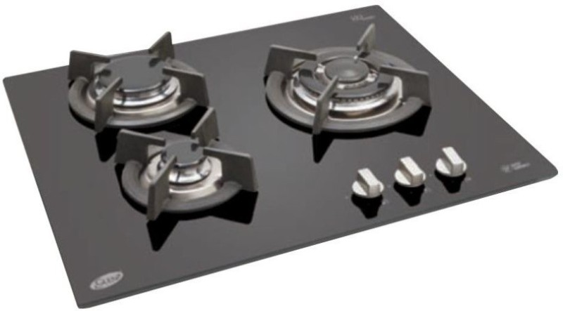 Glen Glen GL 1063 RO IN 3 Burner Auto Built in Hob Glass Automatic Gas Stove(3 Burners)