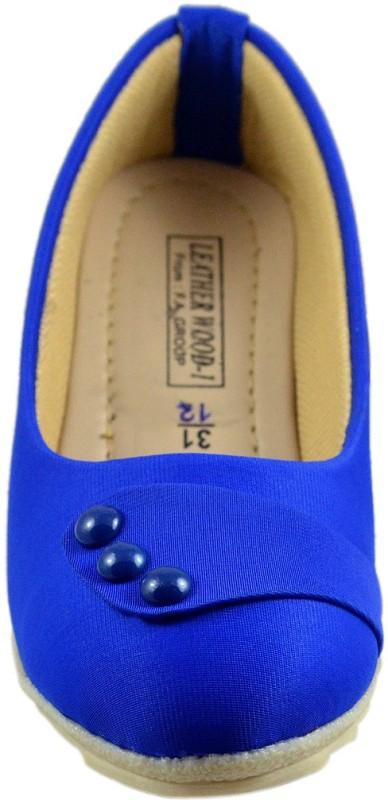 Leatherwood1 Girls Slip on Ballerinas(Blue)