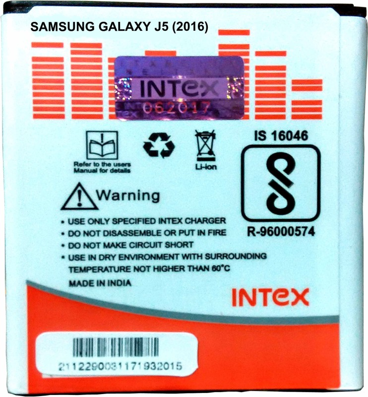 Intex Mobile Battery For Galaxy J5 (2016)