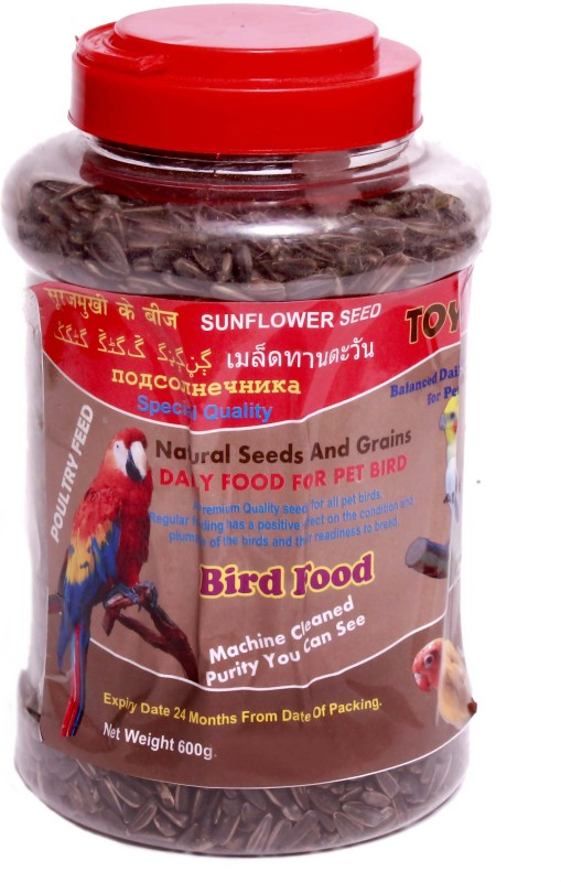 toya Natural Sunflower Seed 600 g Dry Bird Food