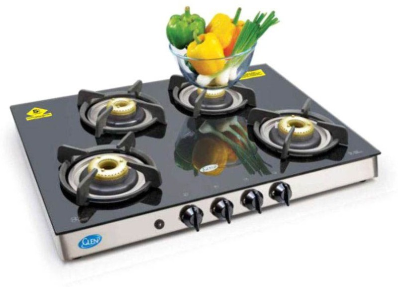 GLEN GL 1048 GT AI Forged BB Glass Automatic Gas Stove(4 Burners)