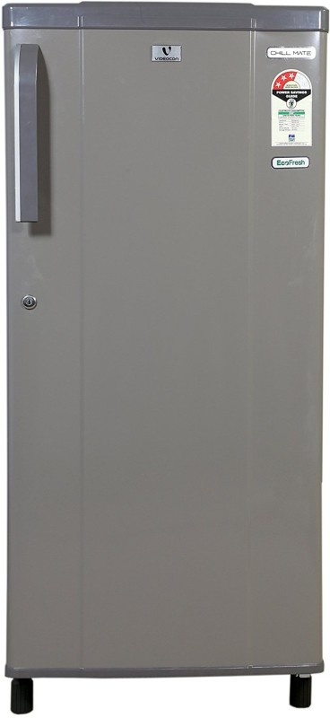 Videocon 190 L Direct Cool Single Door Refrigerator(Silver/Grey/Marvel, VC203MSH)