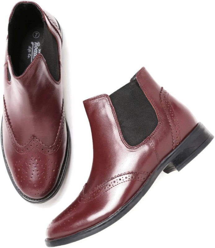 Roadster Boots(Maroon)