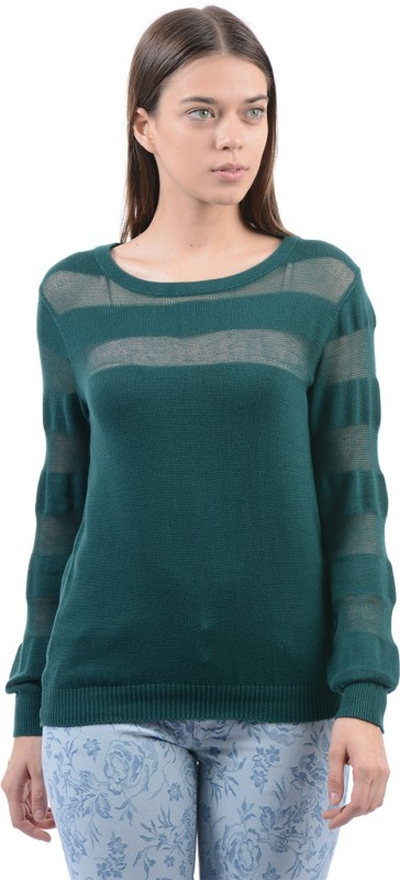 Pepe Jeans Solid Women Round Neck Green T-Shirt