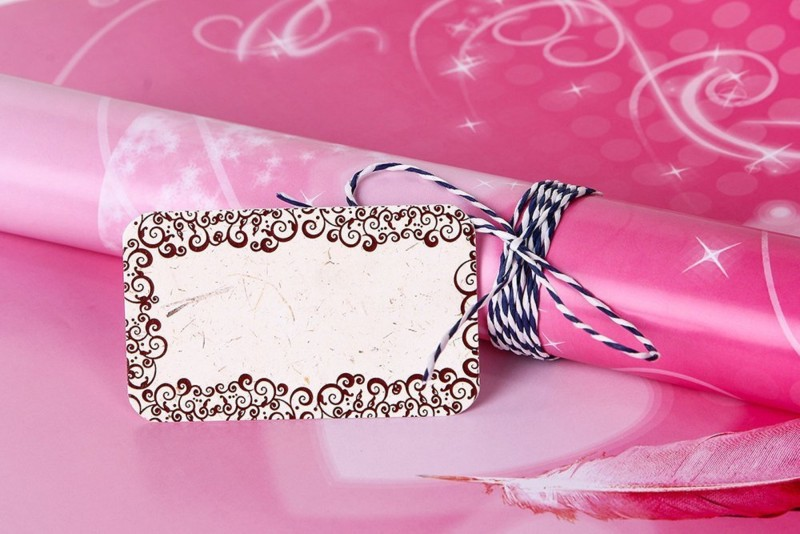 Uberlyfe GW-001438-PKHRT Flower Paper Gift Wrapper(Pink)