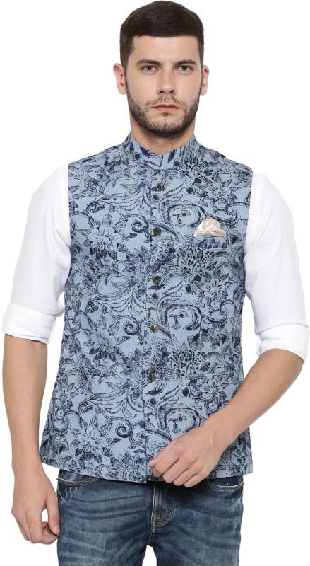 Showoff Sleeveless Floral Print Men Jacket