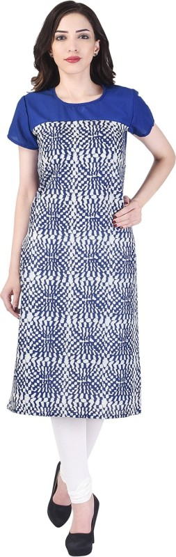 Lipsa Casual Printed Women's Kurti(Blue)