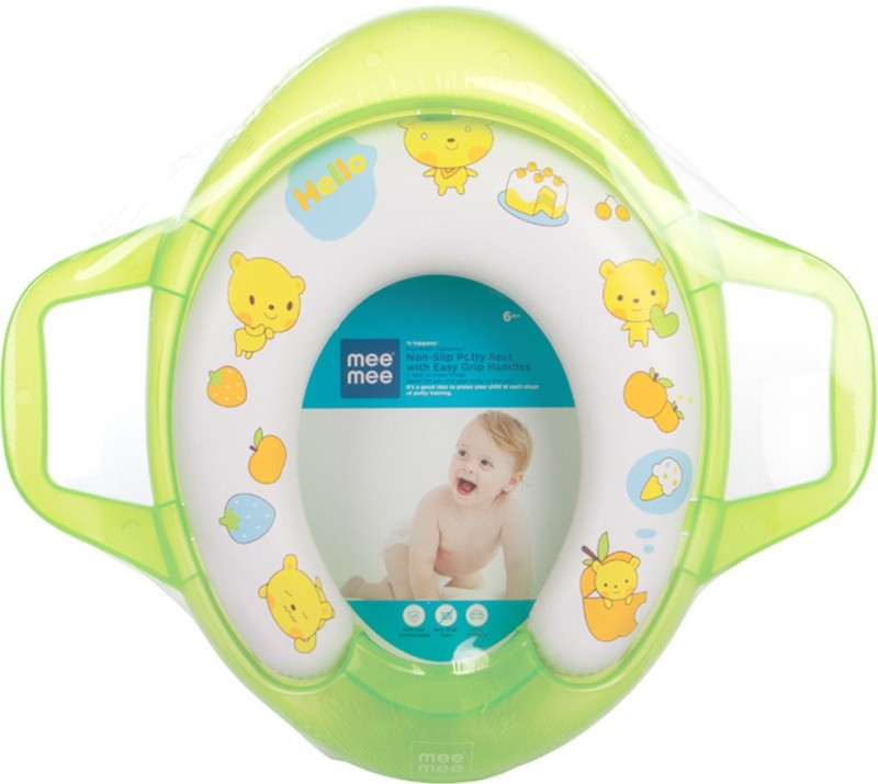 MeeMee Soft Cushioned with Support Handles Potty Seat(Green)