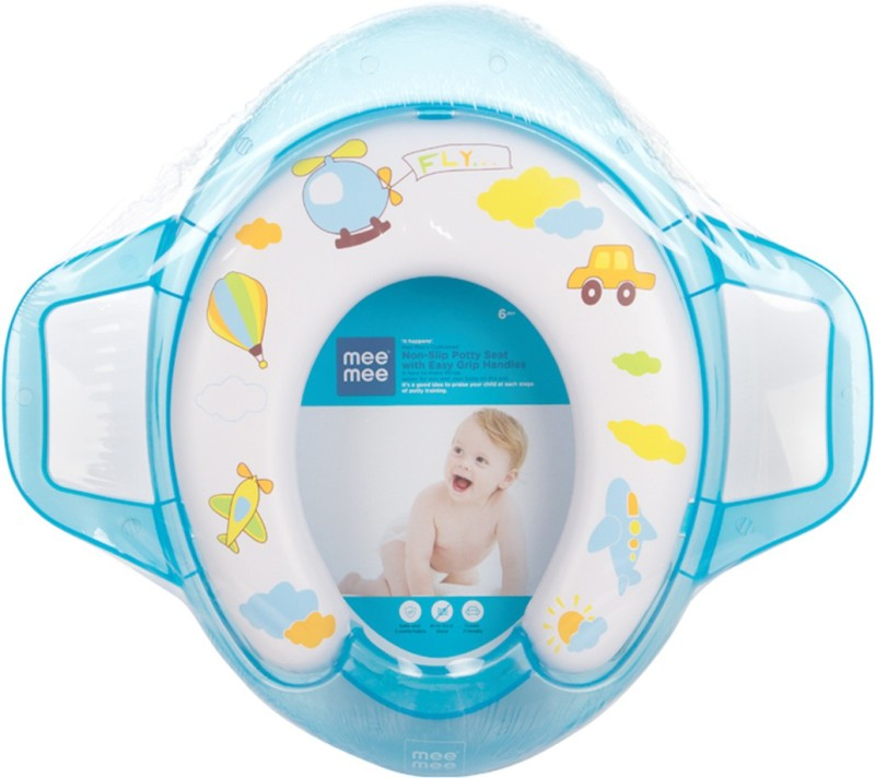 MeeMee Soft Cushioned with Support Handles Potty Seat(Blue)