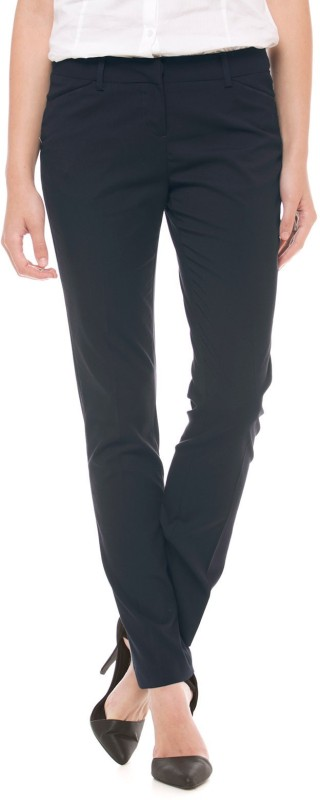 Arrow Woman Regular Fit Women Blue Trousers