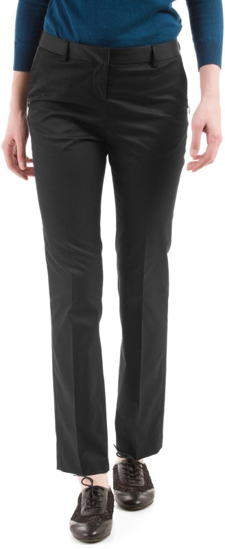 Arrow Woman Regular Fit Women Black Trousers