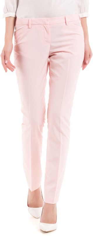 Arrow Woman Slim Fit Women Pink Trousers