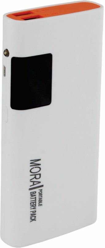 Mora 5cld Bureau of Indian Standard Certified 13000 mAh Power Bank(White, Lithium-ion)