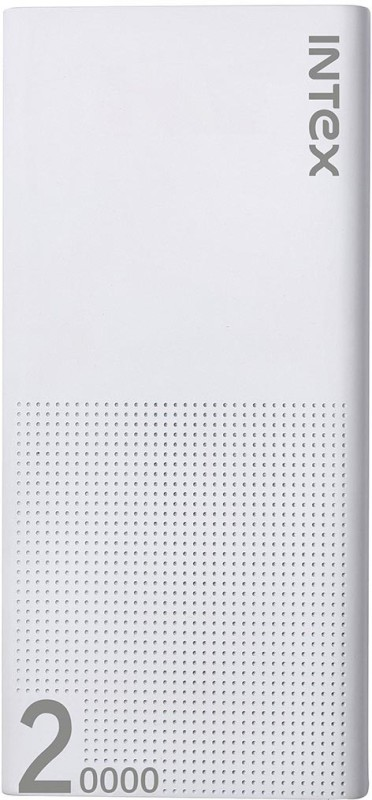 Intex 20000 mAh Power Bank (Fast Charging, 10 W)(White, Lithium Polymer)