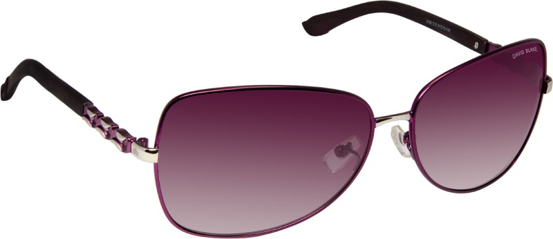 David Blake Over-sized Sunglasses(Violet) image