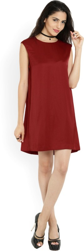 MANGO Women A-line Red Dress