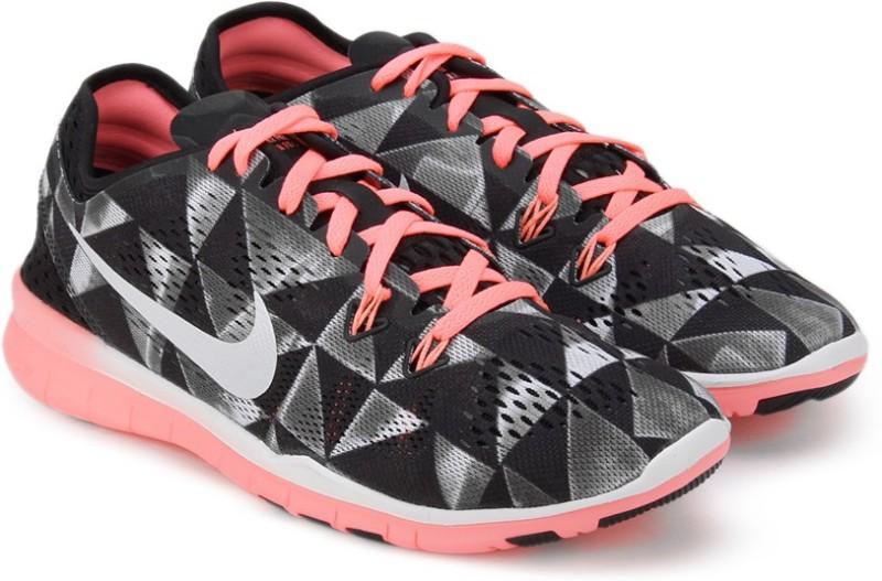 Nike WMNS FREE 50 TR FIT 5 PRT Training ShoesBlack White