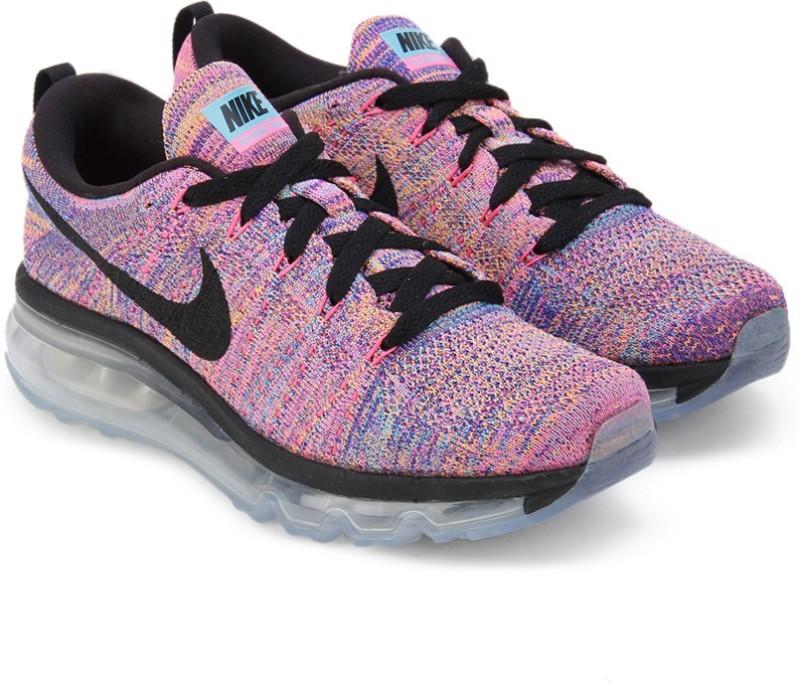 Nike WMNS FLYKNIT AIR MAX Running ShoesBlack Blue