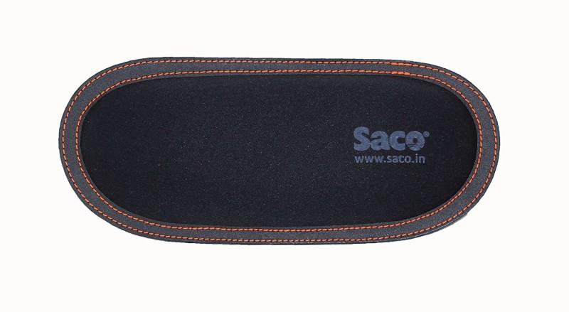 Saco Wrist Rest Palm Support Comfort Soft Soft Wrist Pad with Multi-Purpose Storage for PC Laptop Desk Mouse - Black with Orange line Wrist Rest(Black)