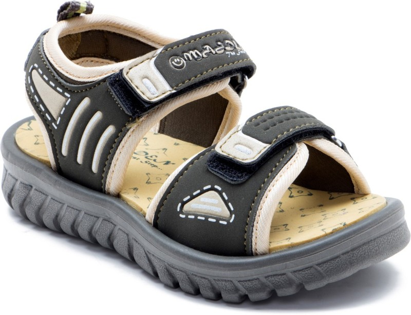 OMAIDEN The First Step Boys Velcro Sports Sandals(Dark Green)