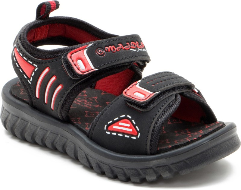 OMAIDEN The First Step Boys Velcro Sports Sandals(Black)