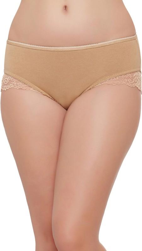 Clovia Women Bikini Beige Panty(Pack of 1)