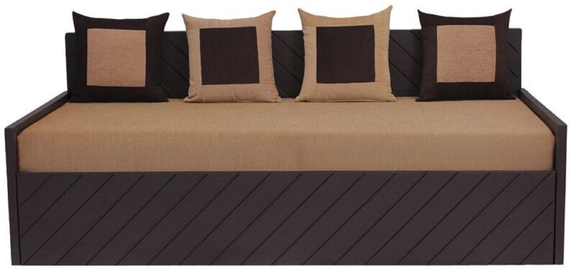Auspicious Home Kaiden (4 Pillows) Double Fabric Sofa Bed(Finish Color - Brown Mechanism Type - Pull Out)