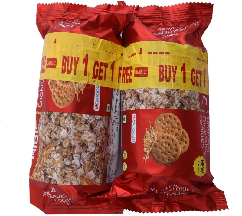 Unibic Oatmeal Digestive Biscuits - Buy 1 get 1 Free(150 g, Pack of 2)