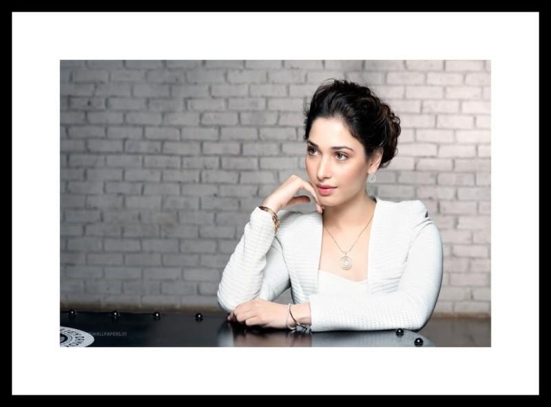 Myimage Bollywood Actress Tamanna Bhatia Digital Printing on Cloth Framed Poster (14.0...