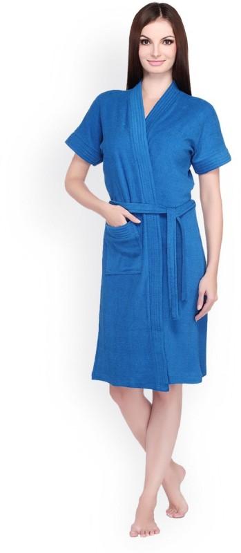 pink prachi Blue Free Size Bath Robe(1, For: Women, Blue)