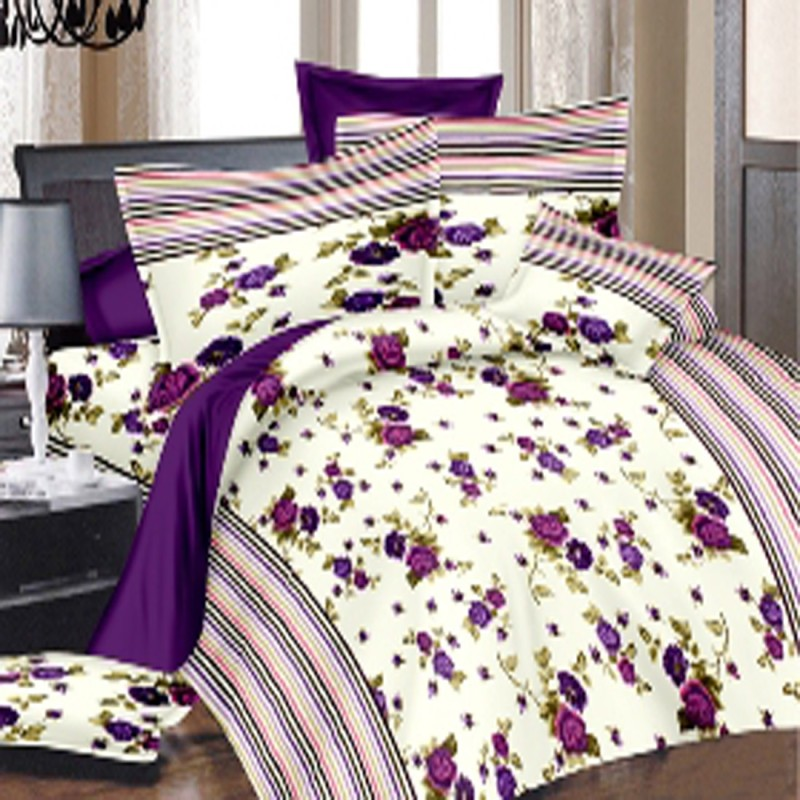 india furnish Cotton Double Floral Bedsheet(Pack of 1, Multicolor)