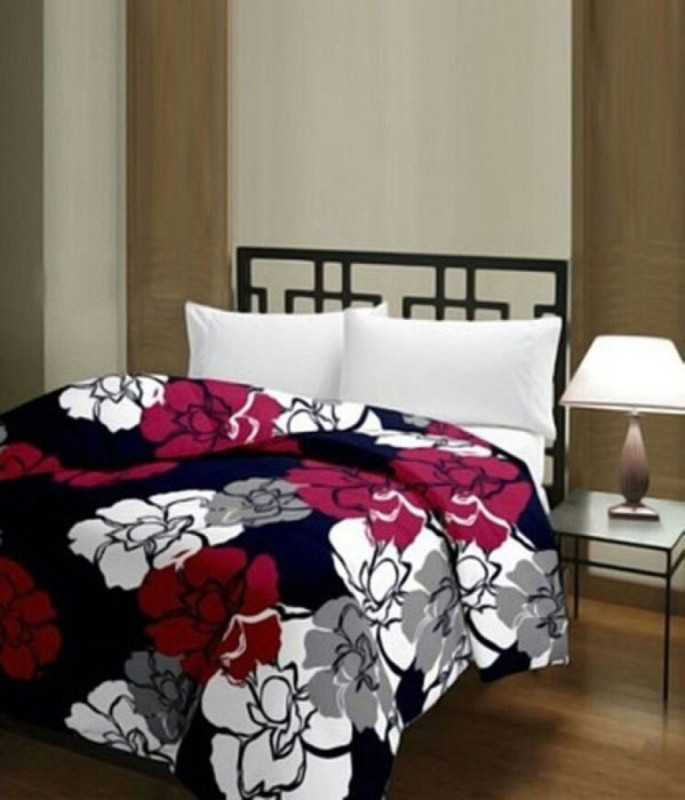 CarryWishiya Floral Double Dohar(Poly Cotton, Multicolor)
