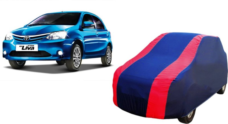 FASTEST Car Cover For Toyota Etios Liva (Without Mirror Pockets)(Blue, Red)