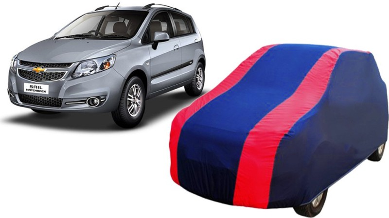 FASTEST Car Cover For Chevrolet Sail UVA (Without Mirror Pockets)(Blue, Red)