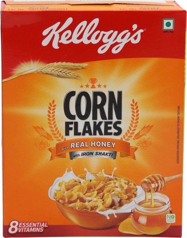 Kelloggs Corn Flakes Real Honey(125 g, Box)