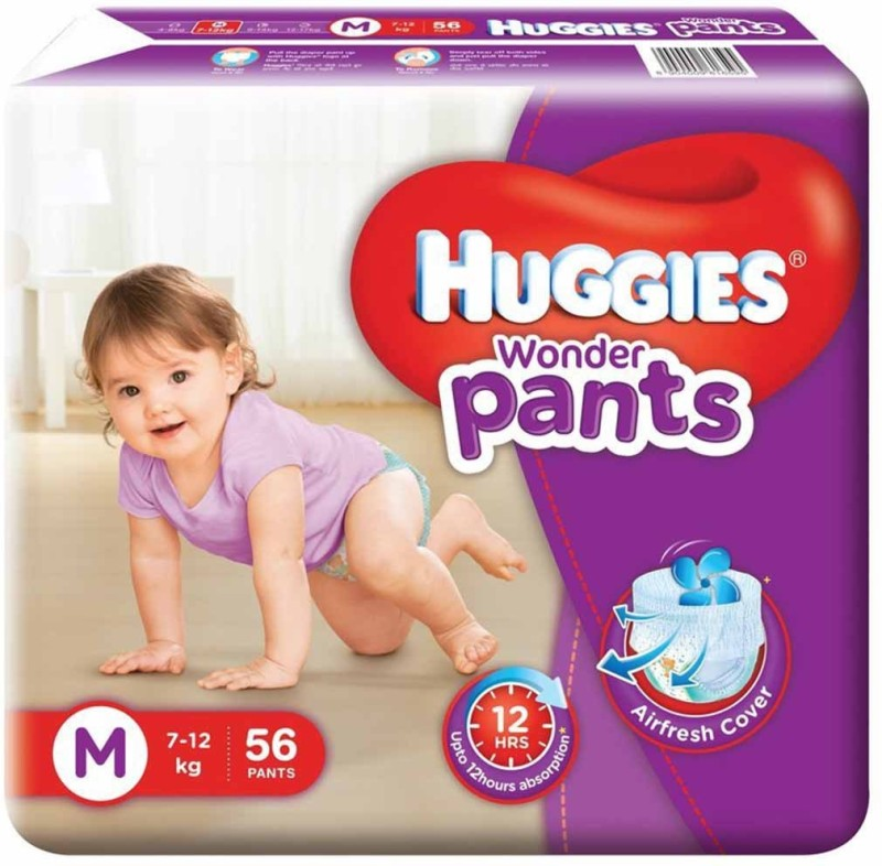 Huggies Wonder Pants - M(56 Pieces)