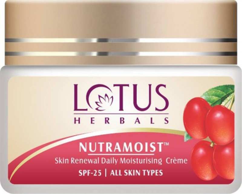 Lotus Herbals Nutramoist Skin Renewal Daily Moisturising Creme SPF-25(50 g)