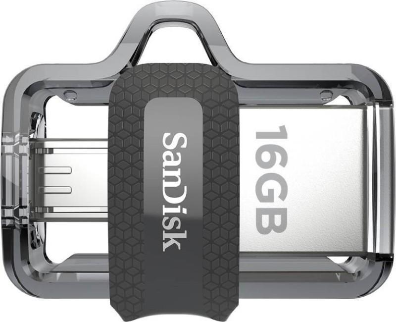 SanDisk Ultra Dual Drive m3.0 16 GB Pen Drive(Multicolor)