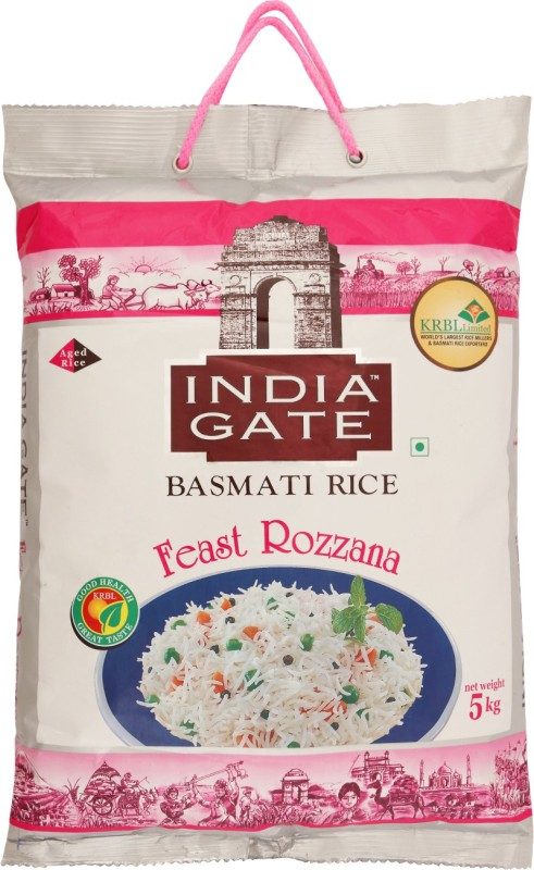 India Gate Feast Rozzana Basmati Rice(5 kg)