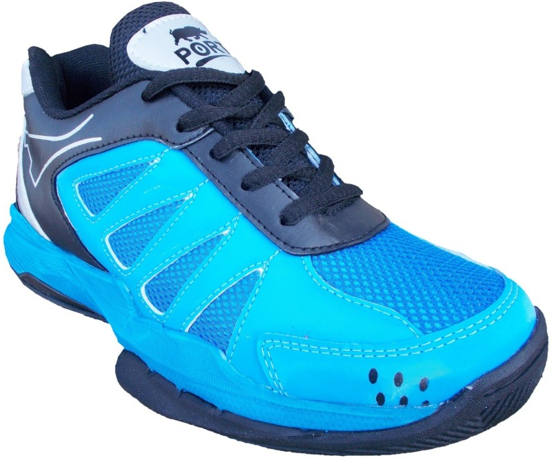 Port Stinger Badminton Shoes For Men(Blue)