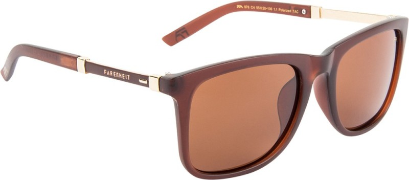 Farenheit Wayfarer Sunglasses(Brown)