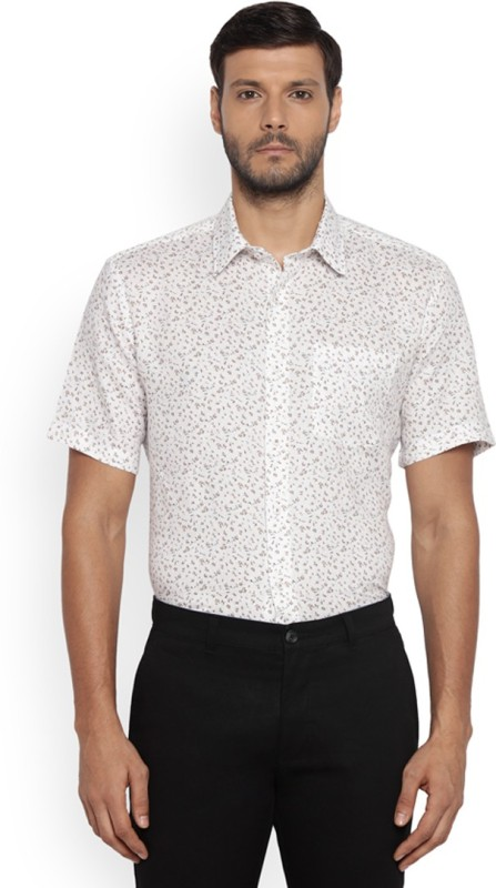 Park Avenue Men Printed Formal Beige Shirt