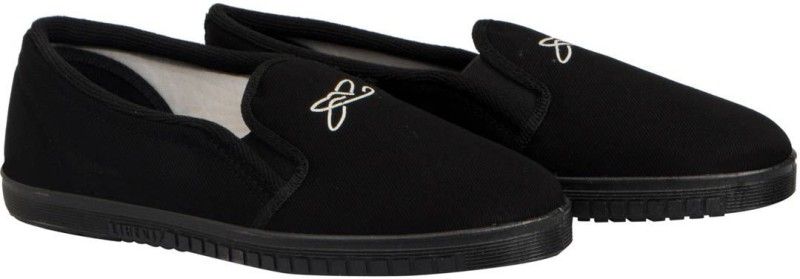 Gliders by Liberty Jogging-E-Black Casual Shoes For Men(Black)